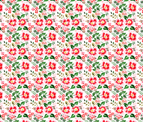 antoinette fleur S fabric by nadja_petremand on Spoonflower - custom fabric