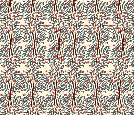 cherry trees fabric by aikalajka on Spoonflower - custom fabric