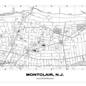 Montclair NJ street map