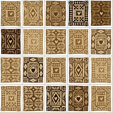 Keepsake Tuppenny Brown fabric by spellstone on Spoonflower - custom fabric