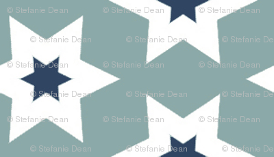 Stars - Navy and Blue