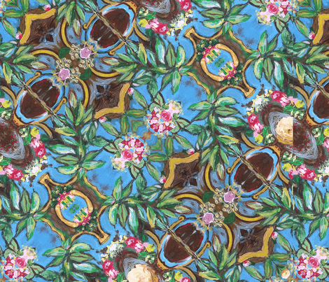 floral-paint fabric by dana_zurzolo on Spoonflower - custom fabric