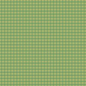 Teal, Green, and Gold Fiigree Plaid