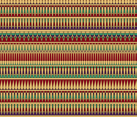 Egyptian Collar Stripe fabric by pond_ripple on Spoonflower - custom fabric