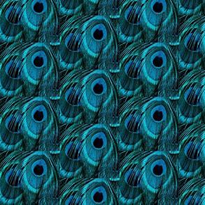 TEAL BLUE PEACOCK SPOTS