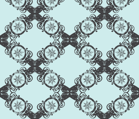 Ornate Pewter fabric by susaninparis on Spoonflower - custom fabric