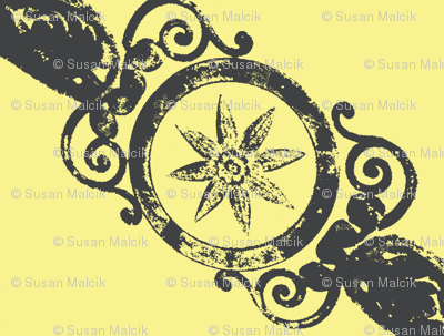 Ornate Pewter in Yellow