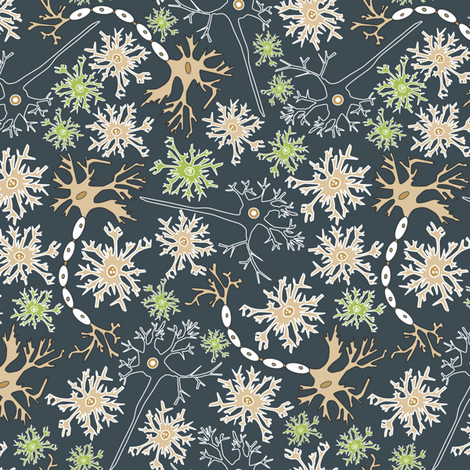 Even More Neurons fabric by angelastevens on Spoonflower - custom fabric