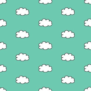 Cloudy Day in Teal