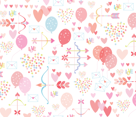 Love is in the Air fabric by kayajoy on Spoonflower - custom fabric