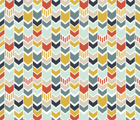 Chevron with Navy fabric by mrshervi on Spoonflower - custom fabric