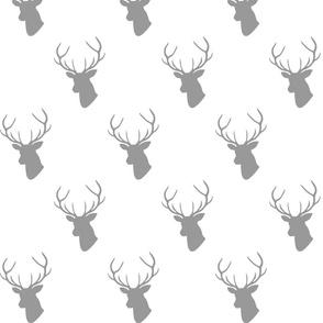 Gray Deer Silhouette