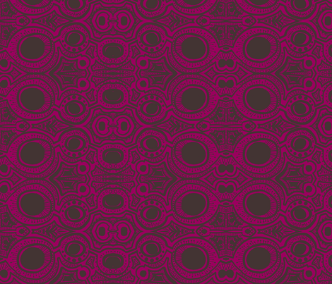 3 eye fuchsia and charcoal  fabric by kcs on Spoonflower - custom fabric