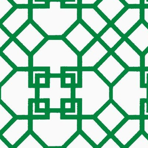 Lattice- Green/White-Large