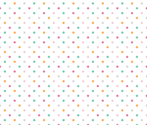 Bunny Hop Dot fabric by gwennypenny on Spoonflower - custom fabric