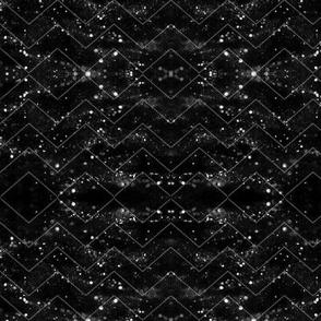 Glitter Bokeh Chevron - Black