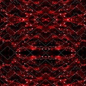 Glitter Bokeh Chevron - Red