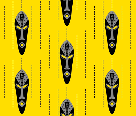 African Modern / mask fabric by paragonstudios on Spoonflower - custom fabric