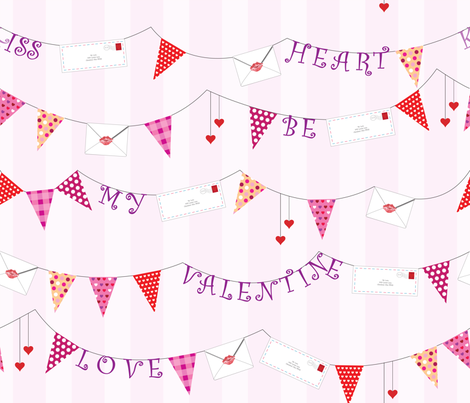 Banners of Love Letters fabric by illustrative_images on Spoonflower - custom fabric