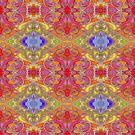 Diamond Patchwork of Sunshine fabric by edsel2084 on Spoonflower - custom fabric