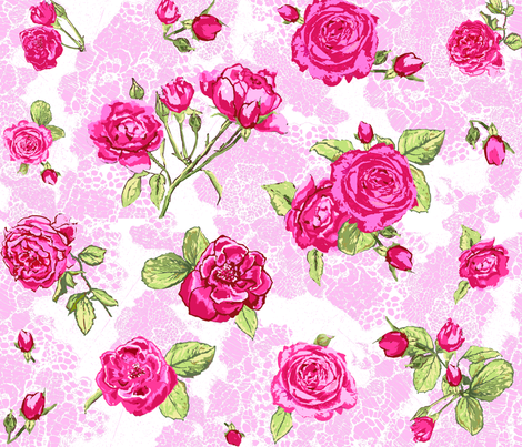 lace_and_roses fabric by katarina on Spoonflower - custom fabric
