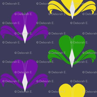 Fleur de Coeur - dark violet