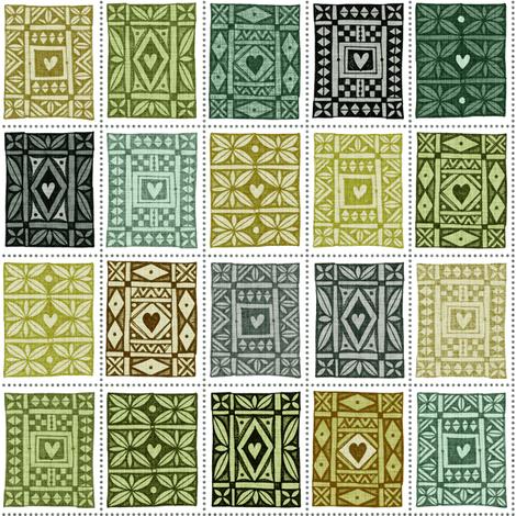 Keepsake Olive fabric by spellstone on Spoonflower - custom fabric