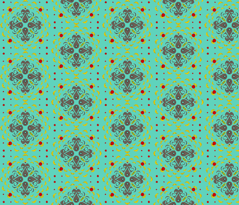 Bright and Stylized fabric by ninjaauntsdesigns on Spoonflower - custom fabric