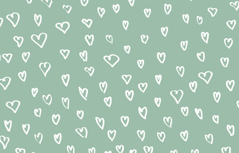Small Hearts in Blue by Friztin fabric by friztin on Spoonflower - custom fabric