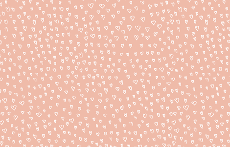 Hearts in Pink by Friztin fabric by friztin on Spoonflower - custom fabric