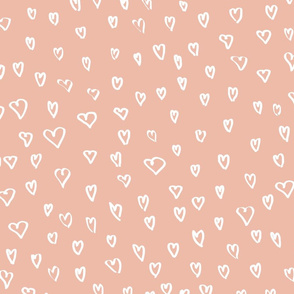 Hearts M+M Peachy Pink by Friztin