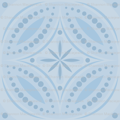 Moroccan Tiles - Pale Blue