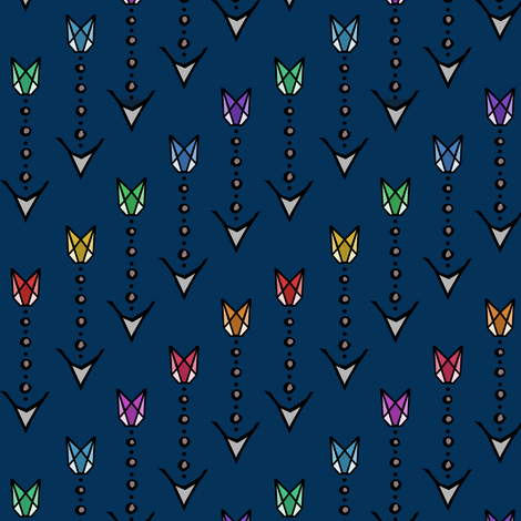 Sagittarius's Arrows fabric by pond_ripple on Spoonflower - custom fabric