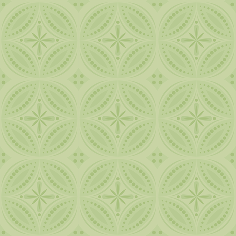 Moroccan Tiles - Pale Green fabric by shannonmac on Spoonflower - custom fabric