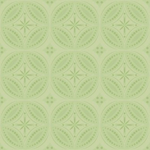 Moroccan Tiles - Pale Green