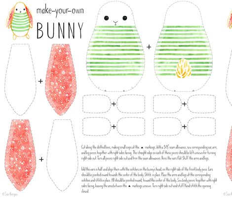 Make-Your-Own Bunny fabric by siankeegan on Spoonflower - custom fabric