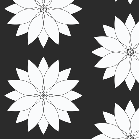 Large_White_Lotus fabric by michelle_zollinger_tams on Spoonflower - custom fabric