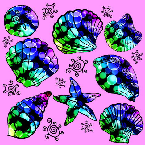 sea shells fabric by krs_expressions on Spoonflower - custom fabric
