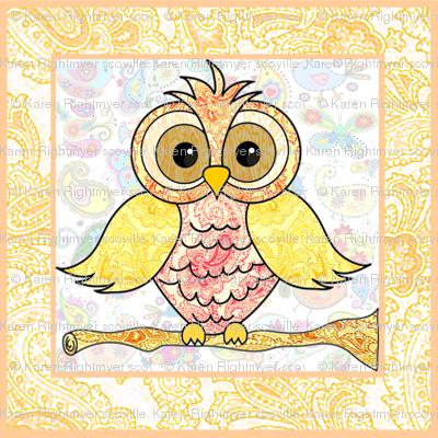 paisley owl large