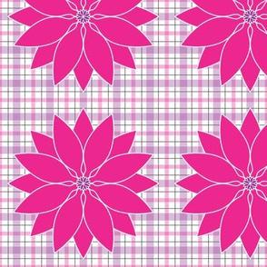 Large_White_Hot_Pink_Lotus_Plaid