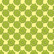 Paisley flowers green