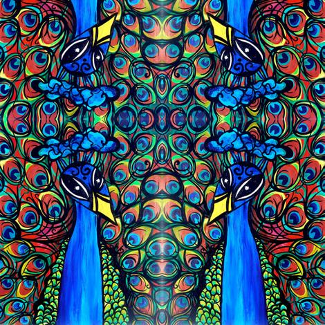 Mr Brighten Peacock  fabric by heatherpeterman on Spoonflower - custom fabric