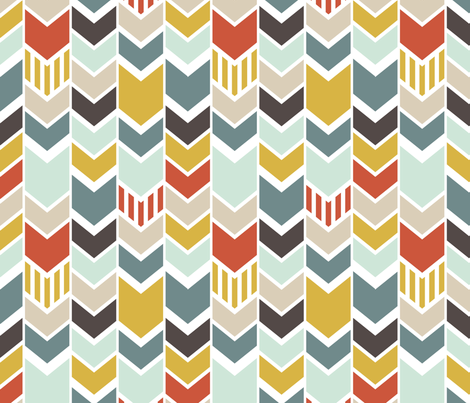 Blue Chevron fabric by mrshervi on Spoonflower - custom fabric