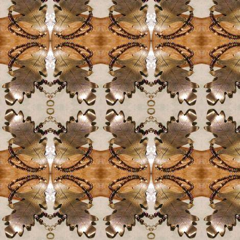 Brass Oak Leaf fabric by ravynscache on Spoonflower - custom fabric
