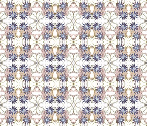 blue_dot_flower_repeat fabric by tat1 on Spoonflower - custom fabric