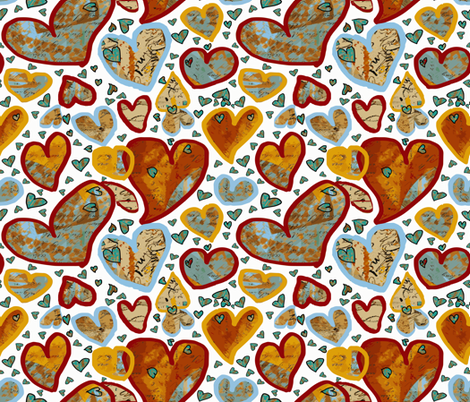 It's Raining Hearts! fabric by anniedeb on Spoonflower - custom fabric