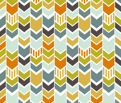 Circus Chevron fabric by mrshervi on Spoonflower - custom fabric