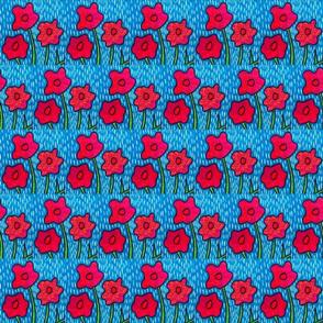 Poppies in the Rain 2