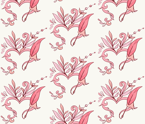 Love note . fabric by amy_malcolm on Spoonflower - custom fabric