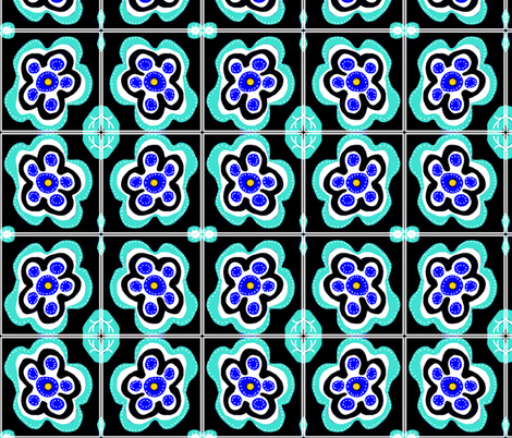 Folk Art Flowers fabric by sarahdesigns on Spoonflower - custom fabric